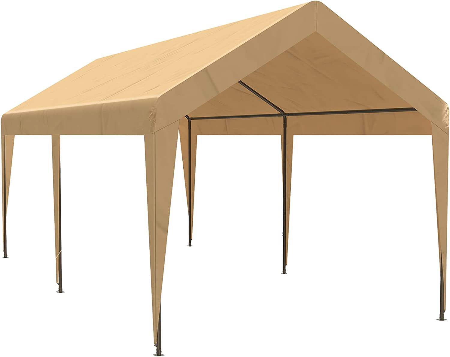 10x20 ft Heavy Duty Manufacturer OFFicial shop Carport Car Canopy In a popularity Garage Portable Shel Boat