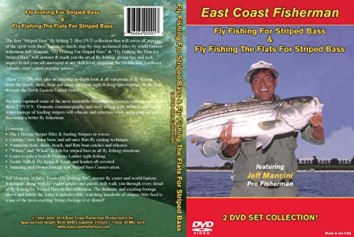 Mighty Bite Fly Fishing for Striped Bass 2 DVD Set Featuring Inventor Jeff Mancini Incredible FOOTAGE 3 Hours Total- Move Style Films