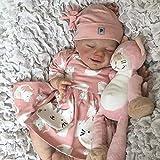 Bias&Belief Reborn Puppe Vollsilikon Mädchen/Junge Reborn Baby Puppe Lebensecht Die Sehr Echt Aussehen Vollsilikon Neugeborene Puppe Zum Kinder,Girl