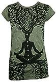 Sure Clothing Camiseta Mujer Wicca - Gurú del Arte Talla M L XL Natural Budismo Yoga Boho Namaste Buda Magia Bruja (L, Verde Oliva)