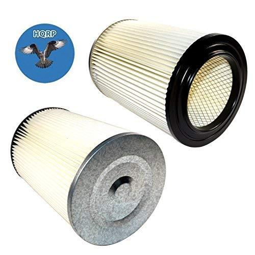 HQRP - Filtro de cartucho para aspiradora Shop-vac 9032800 90328 903-28 903-28-00 de repuesto compatible con aspiradoras Craftsman y Ridgid + posavasos HQRP