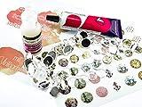 Vintageparts Set JETTE Schmuckzubehör Cabochonset 'Vintage' für Einsteiger in silberfarben mit...