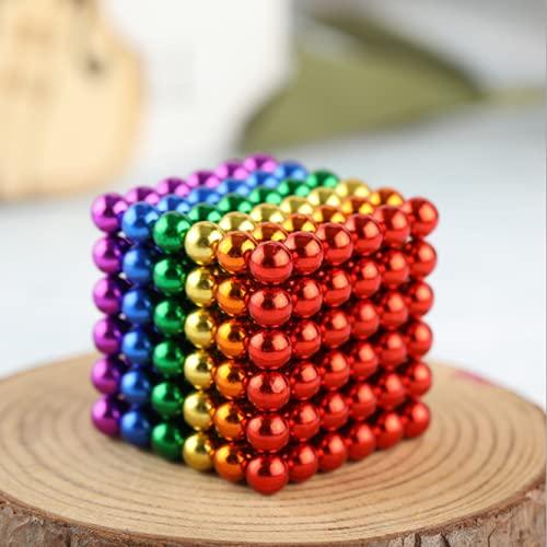 OBEST Rompecabezas MagnéTicos Resistentes a La CompresióN, 216 Imanes PequeñOs Super 5 Mm, Bolas Juguete Coloridas para Ejercitar Las Habilidades Pensamiento y Aliviar el EstréS