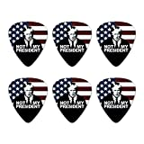 Not My President Anti Donald Trump Novelty Guitar Picks Medium Gauge - Set of 6