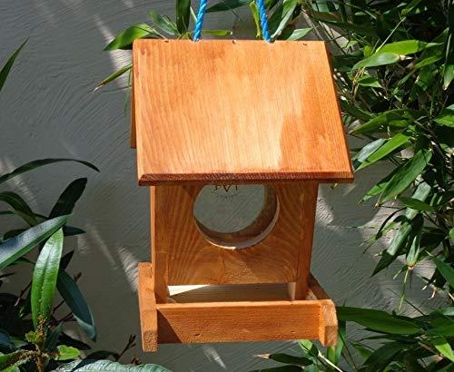 Futterhaus BTV-VOFU1K-dbraun002 Haus PREMIUM Vogelhaus Vogelfutterhaus dunkelbraun braun, als Ergänzung zum Meisen Nistkasten Meisenkasten oder zum Insektenhotel Insektenhaus, Futterstation für Vögel, Vogelhäuschen / Vogelvilla zum Hängen und Aufstellen von BTV