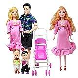 ATIN Familia Muñecas Educativas Real Embarazada Muñeca Feliz Familia Set para Barbie Regalo...