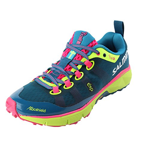 Salming Trail 5 Shoe Women Blue Fluo Yellow 37