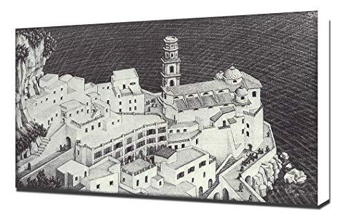 Lilarama M.C. Escher - Atrani-Coast-of-Amalfi 2432 - Art Leinwandbild - Kunstdrucke - Gemälde Wandbilder