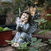 建物の付属品彫像の装飾品彫刻樹脂リトルエンジェル彫刻の装飾品アートコートヤードヴィラ家具の装飾屋外の庭の置物彫像の工芸品-Style4
