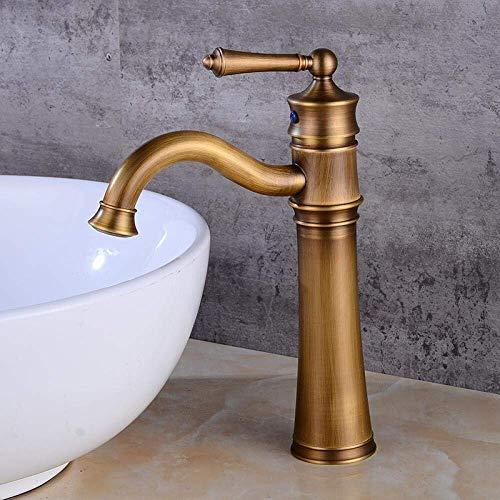 CESULIS Grifo del fregadero lavabo solo agujero grifo del hotel europeo cobre antiguo lavabo agua fría y caliente asiento diámetro 35mm baño fregadero grifos