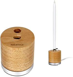 Apple Pencil Directly Stand,Charging Dock Station Bulit-in Charging Adapter Cable for Apple Pencil,Wood Stand and Charger iPad Pro Pen (Birch Charger for Apple Pencil)