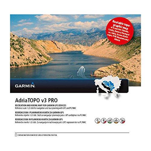 Garmin Adriatopo v3 Pro Vecteur topographique, Noir, uni