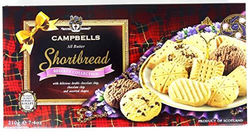Campbells - Galletas -La Colección Shortbread todas Mantequilla Reserva de Campbell 210 Gramos