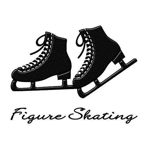 蒔絵シール フィギュアスケート 「スケート靴(両足) 黒」
