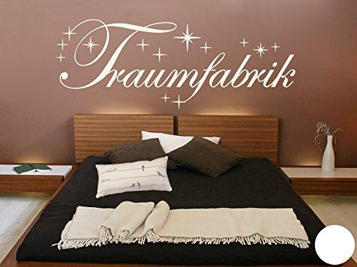 Klebefieber Wandtattoo Traumfabrik mit Sternen B x H: 200cm x 75cm Farbe: weiß