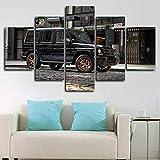 runtooer Bilder Dekorative malerei Spray malerei leinwand malerei 5 stück Mercedes Amg G65 Amg Kombi Leinwand Wandbild, Möbel Art Deco, Rahmen
