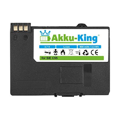Akku-King Akku kompatibel mit Siemens EBA-510 - Li-Ion 900mAh - für C55, A51, A52, A55, A57, S55, SL55, Sinus 701, Gigaset SL37H, V30145-K1310-X250
