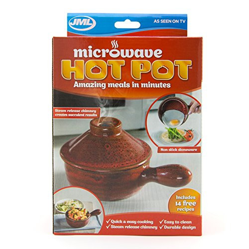 JML Microwave Hot Pot with Heat Retaining Ceramic & Steam Release Chimney