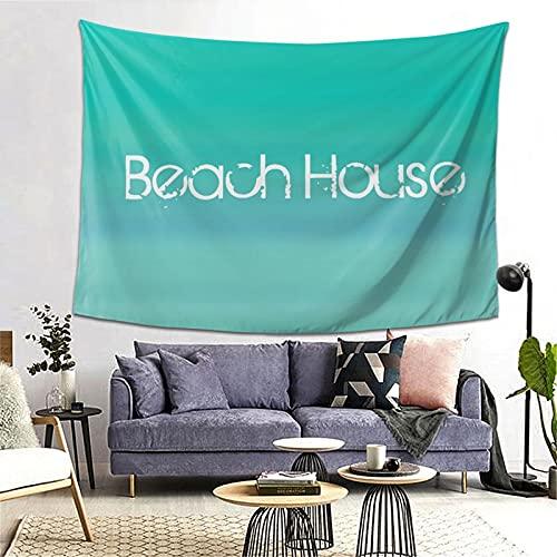 LONSANT Tapiz,Casa de playa clara en aguamarina verde azul esmeralda,Decoración de la Pared Manta Arte de la Pared Tapiz Dormitorio Sala de Estar Toalla de Playa