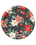 American Greetings Christmas Party Supplies, Winter Floral Dessert Plates (36-Count)