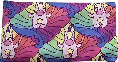 NativOrganics - Almohada de ojos para yoga, meditación y relajación, diseño de unicornio, lavable, relleno de linaza y lavanda