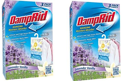 DampRid FG83LV Hanging Moisture Absorber Lavender Vanilla BzAeeM, 2Pack (3 Pack, Lavendar)