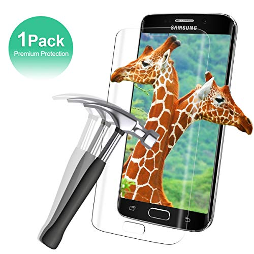 Panzerglas Schutzfolie für Samsung Galaxy S6 Edge[1 Stück],3D Touch 9H Härte Transparent Displayschutzfolie[Anti-Öl/Anti-Fingerabdruck/Kratzfest/Blasenfrei]Einfaches Anbringen 3D Rund Panzerglasfolie