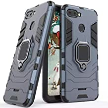 xiaomi redmi 6 / 6A armor iron man case cover with magnetic holder ring stand dark blue