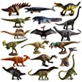 TOYMANY 18PCS Realistic Mini Dinosaur Figures, Detailed Texture Miniature Dino Figurines Cake Topper Toy Set with T-Rex, Easter Egg Christmas Birthday Gift Party Favor School Project for Kids Toddlers from TOYMANY