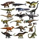 TOYMANY 18PCS恐竜フィギュア ミニ 恐竜おもちゃ 動物フィギュアセット リアルな動物模型 恐竜遊び PVCプラスチック製 誕生日プレゼント 6歳以上