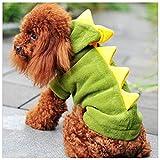 NiQiShangMao The Warm Dinosaur Clothes Pet Dog Suit Halloween Costume Dragon Clothing Animals Cat Hoodie