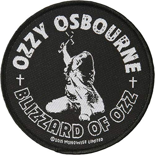 Razamataz Ozzy Osbourne Blizzard of Ozz Patch Album Art Heavy Metal Woven Sew On Applikation