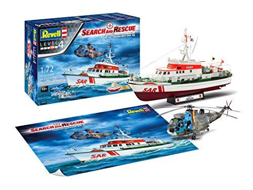 05683 Geschenkset DGzRS Berlin+SAR Sea King 1:72