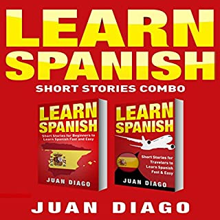 Learn Spanish: 2 Books in 1! audiobook cover art