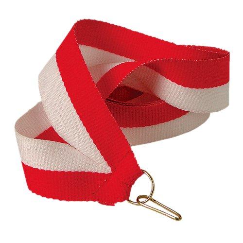 pokalspezialist Medaillenband rot/weiß 22mm breit 10 Stück