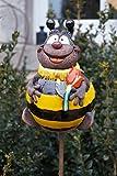 TB Rostalgie Keramik Gartenkugel Biene Maja mit Blume 18 cm Gartenstecker Handarbeit
