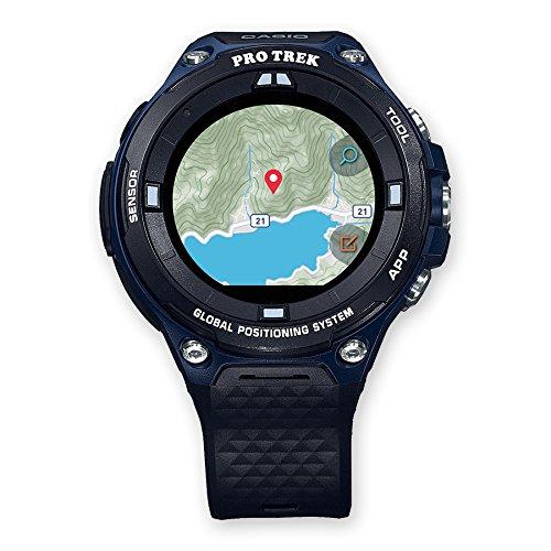 Casio WSD-F20A-BUAAE smartwatch Nero, Blu LCD GPS...