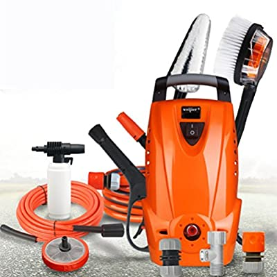 1200W 220V Pressure Washer With Accessories Outdoor Home/Patio Car Cleaner 11 0Bar Working Pressure 6L/MIN Flow Small Household Portable Car Washing Machine by Yang