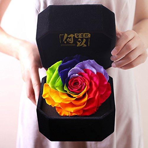 Importado caja de regalo de flor vivo La rosa de cristal Flores Día de la madre-V