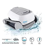 DOLPHIN Saturn Automatic Robotic Pool Cleaner Provides an Easy Cleaning Solution for Above Ground and In-ground Swimming Pools up to 33 Feet.