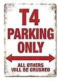 KELLEN WHITEHEAD T4 Parking Cartel Divertido de la decoración del Tablero del Arte del Metal de la Muestra de Pared