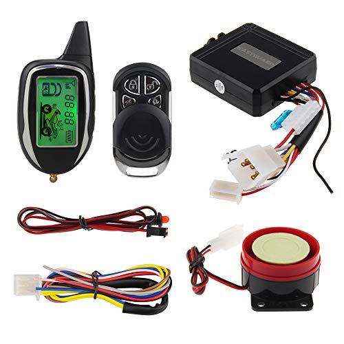 EASYGUARD EM208-1 2 Way Motorbike Alarm System with tilt Sensor Shock Sensor Remote Engine Start Optional DC12V