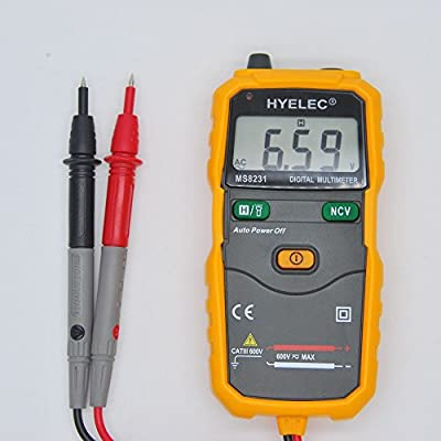 MakeTheOne Full Auto Ranging Digital Multimeter -Simultaneously Display Voltage & Current--Life Time Warranty--AC DC Digital Clamp Meter