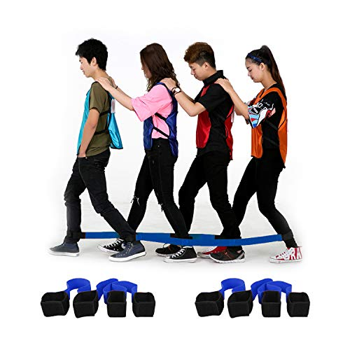 4 Legged Race Band, Outdoor Party Group Game for Kid Adult, Cooperative...