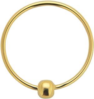 9K giallo oro calibro 22 anello prigioniero del branello naso Piercing da naso