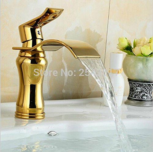Retro Deluxe FaucetingWaterfall Bad Armatur goldenen Wasserhähne Luxus Gold Vintage Wasserhahn Mixer Waschbecken Zr 457 Tippen