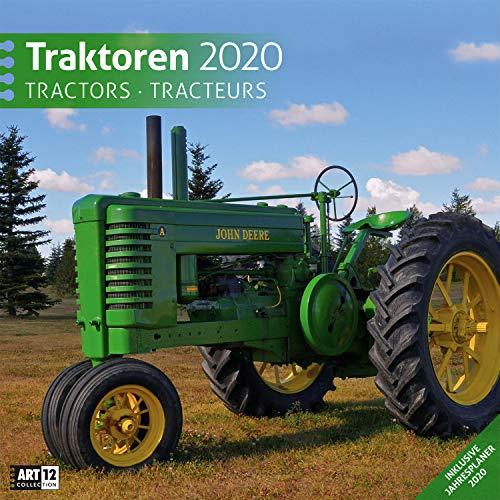 Traktoren 2020, Wandkalender / Broschürenkalender im Hochformat (aufgeklappt 30x60 cm) - Geschenk-Kalender mit Monatskalendarium zum Eintragen