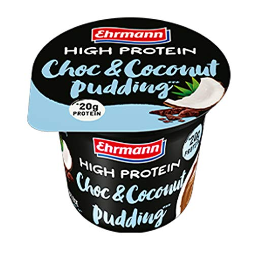 High Protein Pudding al Cioccolato e Cocco. Formato da 200gr.
