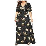 wudube vintage style taglie forti vestito manica corta floreale delle donne estiva abito sera sexy vestiti da cocktail vestiti donna festa cerimonia vestito