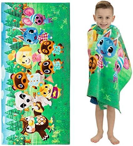 Franco Kids Super Soft Cotton Beach Towel 28 x 58 Animal Crossing product image